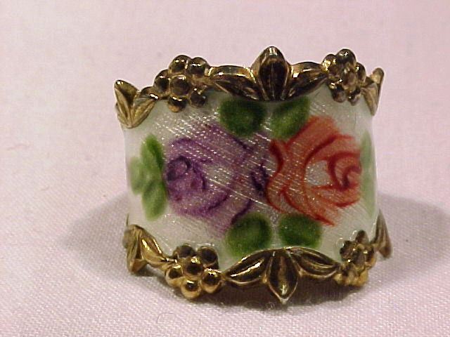 Roses in  Guilloche & Sterling Ring