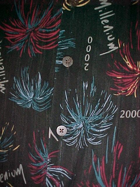 Millenium 2000 Shirt sz Med 100 % Rayon