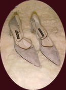 Ann Klein Beige Suede Pumps with Ankle straps 8
