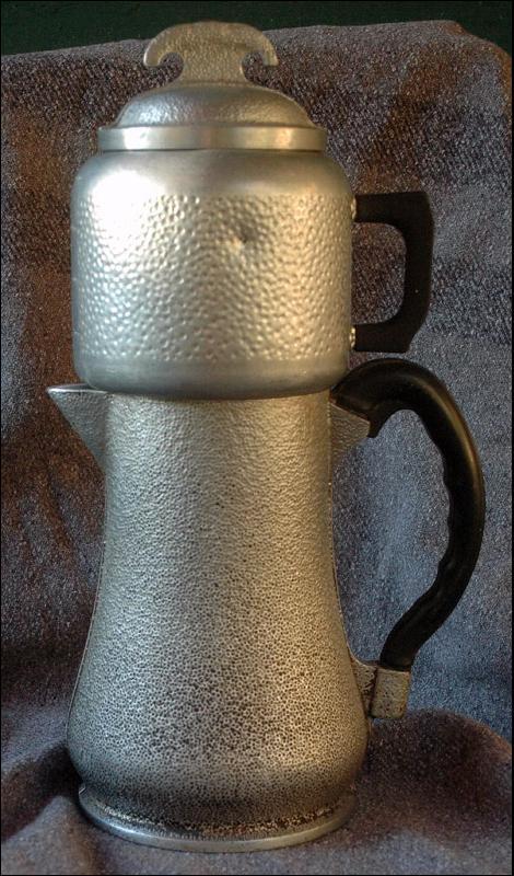 VINTAGE GUARDIAN WARE  HAMMERED ALUMINUM COFFEE TEA POT   ( drip)