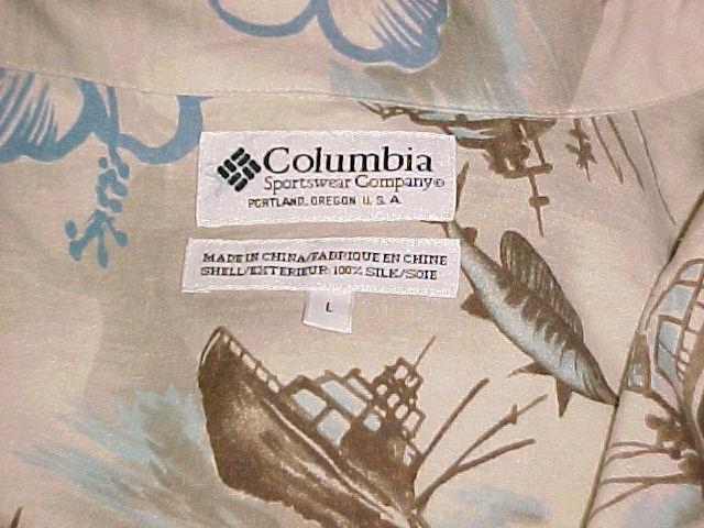 Hawaiian Fishing Charter Print Silk Shirt By