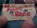 Go Baretoof in Paradise Shirt  Mod Tiki Hawaiian Shirt -MED 3 front pockets!