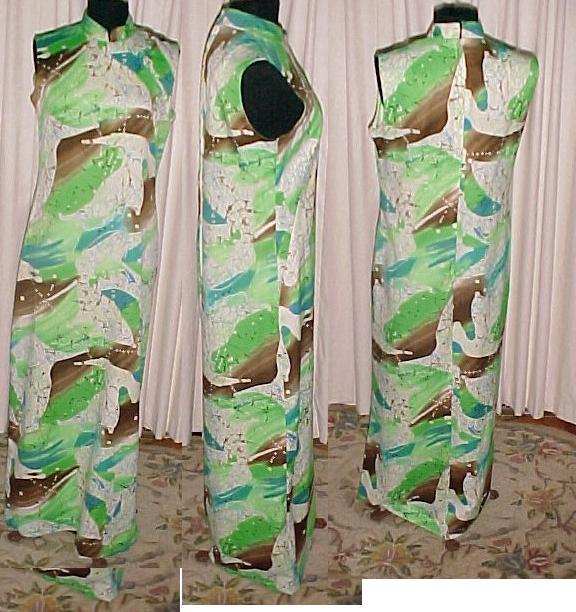 Retro Hawaiian Dress Mod Print Haruko *PRICE REDUCTION!*