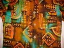 Retro J.C. Penny's Hawaii Mod Tapa Print Shirt