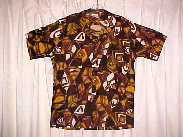 Retro Mod Abstract Hawaiian Tiki Shirt