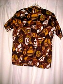 Retro Mod Abstract Hawaiian Tiki Shirt