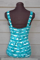 Vintage bathing suit Mod Abstract pattern