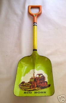 Vintage Tin Litho Ohio Art  Shovel
