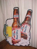 Bud Dry Metal Beer Sign **Price Reduced**