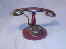 Red Tin Toy Phone