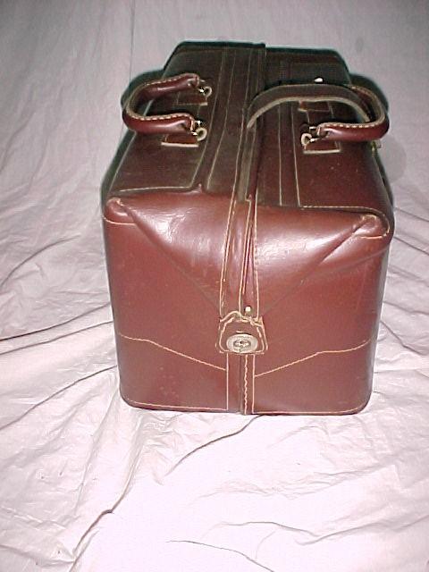 Vintage Leather Brief Case or Travel Bag