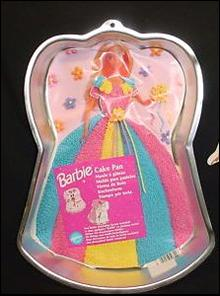 Wilton BARBIE cake pan with instruction insert