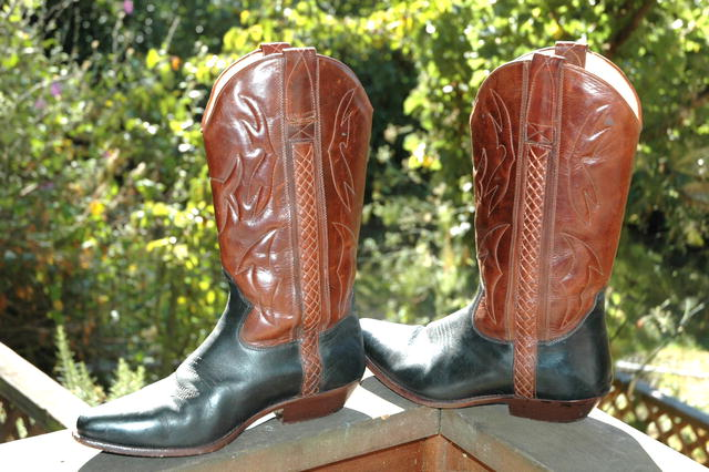 Cole Haan 2-tone Cowboy Boots 10.5 MED