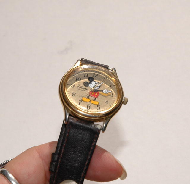 Mickey Mouse Gold Face watch Disney Time Works