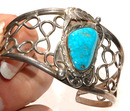 Hand crafted Silver Turquoise Cuff Bracelet