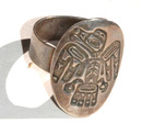 N.W. Indian Thunderbird Totem Sterling Ring