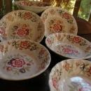 6 Rare Franciscan China Mandarin 6.25 Soup Cereal Bowls