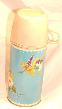 Sky Blue Flowered Thermos
