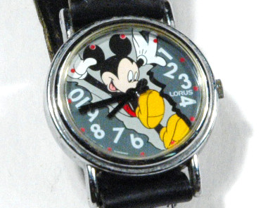 Watch Mickey Mouse Bursting Through Dial Lorus