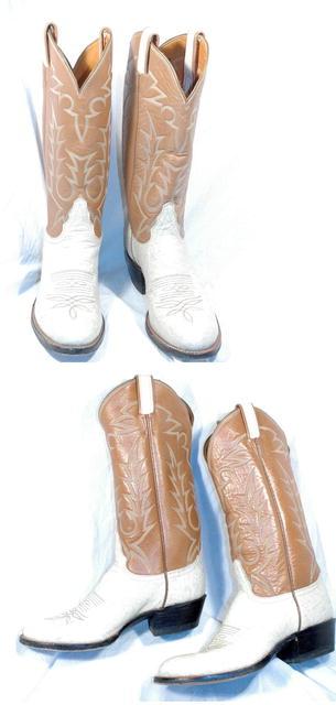 Cream & Peanut   Tony Lama  Boots 7  B