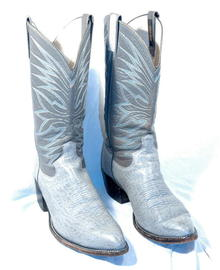 Gray/Blue Dan Post  Antalope hide Cowboy Boots 10 D     ** PRICE REDUCED**!!