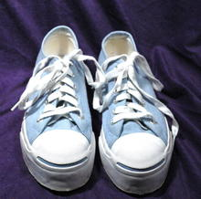 Ladies Powder Blue Converse Jack Purcell Shoes Sneakers sz 6.5
