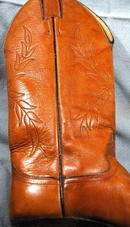 Justin Western Cowgirl Boot Leaf Stitched sz7A   ** PRICE REDUCED**!!
