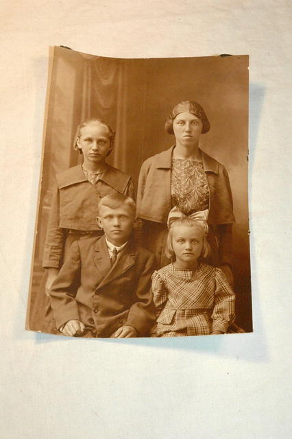 Old Family Photo Card Sepiatone