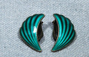 Norway Sterling Guilloche Earrings ELVIK 1950's