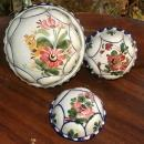 Bassano Italy Hand Painted Ceramic Kitchen Molds Set of 3  Ceramiche ABC