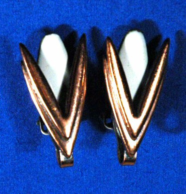 Matisse Copper  Enamel  Earrings Classic  Moderne