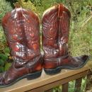 TEXAS IMPERIAL TEXAS BOOT COMPANY FANCY STITCHED MEN'S COWBOY BOOTS SIZE 10 1/2 D