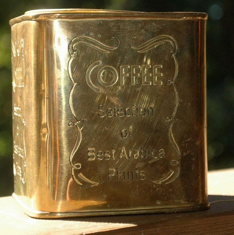 Brass Arabica Coffee Tin