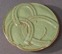 Frankoma Green Horse Shoe Good Luck Trivet