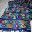 Guatemalan Mayan Extra Long Table Runner   Hand Woven  Brillient Colors- Vintage