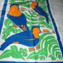 Toucans Hand Printed in Australian  Tea Towel by Rodriquez  Vintage  Never used  Free Shipping