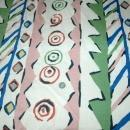 Festive Lined Fabric  Drapery   Panel or Table Cloth  98