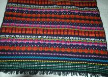 Vintage 70's Hand Wovan Tzute Carrying Fabric Cloth from Guatemala