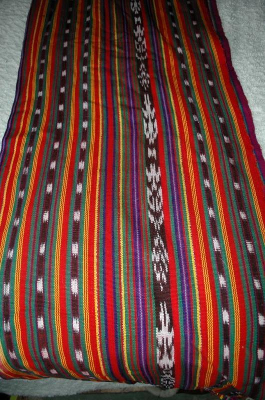 Guatemala Ikat Hand Loomed Fabric 2 ply cotton   per yard 36