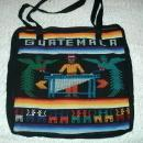 GUATEMALA Souvenir Tote bag  1970's  Hand Loomed Textile  Free Shipping