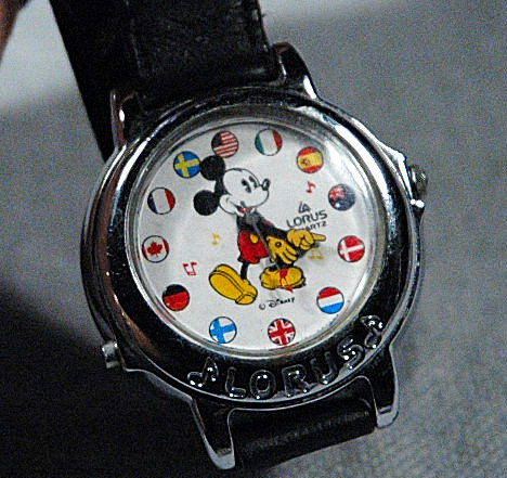 Mickey Mouse Flag of the Worlds Musical Watch