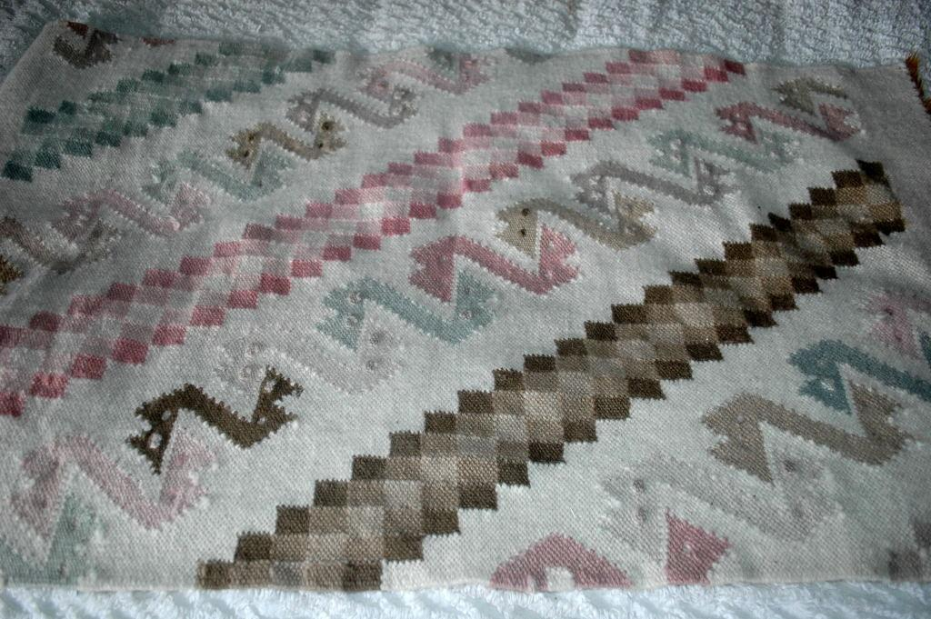 Alpaca Wool Area Rug, Hand Woven, Signed