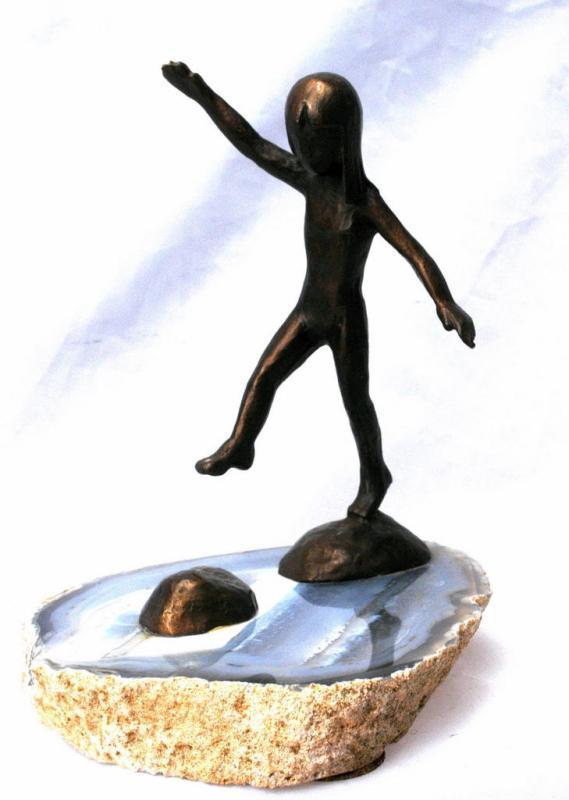 Wah Ming Chang Bronze Sculpture, Girl,