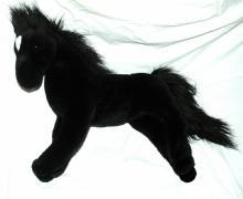 Douglas Cuddle Toy Black Stallion Horse Plush 19