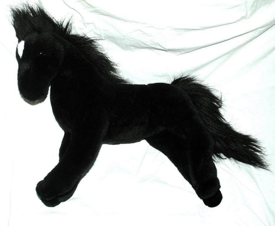 Douglas Cuddle Toy Black Stallion Horse Plush 19