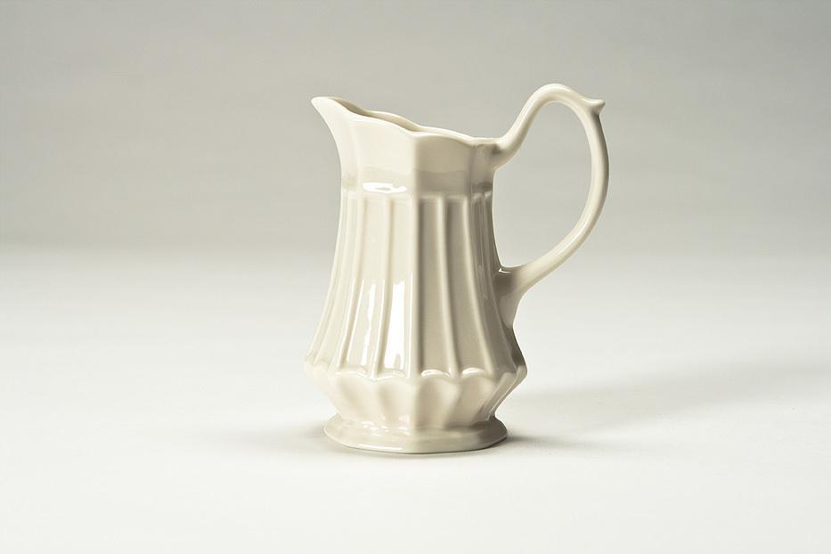 Thatcham Creamware Ribbed Creamer, Ivory Color   Free Shipping