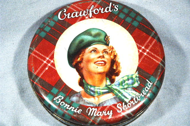 Old Crawford's Bonnie Mary Shortbread round Tin