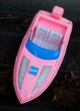 Vintage Barbie Pink Speed Boat   FREE SHIPPING !