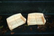 2 Vintage Barbie  Love Seat Couches  Doll House Furniture   Free Shipping