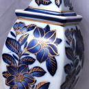 Oriental Blue White Porcelain Ginger Jar